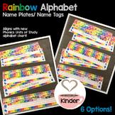 Editable Rainbow Alphabet Name Plate