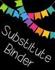 Editable Rainbow Binder Covers--5 Designs!!