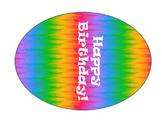 Editable Rainbow Birthday Balloons
