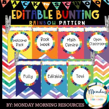 Editable Rainbow Bunting - Classroom Decoration Ideas