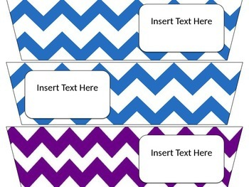 Editable Rainbow Cart Labels