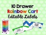 Editable Rainbow Cart Labels