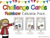 Editable Rainbow Challenge Cards