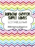 Editable Rainbow Chevron Supply Labels // 4x6