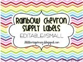 Editable Rainbow Chevron Supply Labels // SMALL