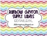 Editable Rainbow Chevron Supply Labels // XL