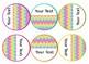 Editable Rainbow Chevron Themed Labels & Tags & Hall Passes Bundle