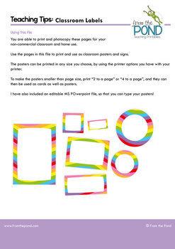 Editable Rainbow Classroom Labels {Editable Classroom Decor Labels}