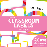 Editable Rainbow Classroom Labels {Editable Classroom Deco