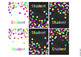 Editable Rainbow Confetti Classroom Labels and Poster