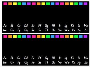 Editable Rainbow Desk & Locker Name Tags