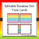Editable Rainbow Dot Task Cards