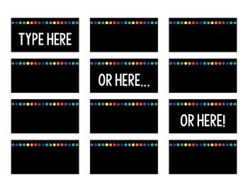 Editable Rainbow Labels