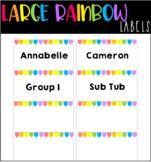 Editable Rainbow Labels BIG