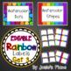 Editable Rainbow Labels  BUNDLE INCLUDES ALL NINE SETS!!