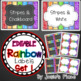 Editable Rainbow Labels  BUNDLE INCLUDES ALL NINE SETS!!