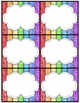 Editable Rainbow Labels Chalkboard & White Frame Set 1