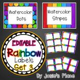 Editable Rainbow Labels Set 3