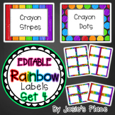Editable Rainbow Labels Set 4