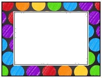 Editable Rainbow Labels Set 4