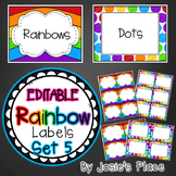 Editable Rainbow Labels Set 5