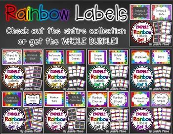 Editable Rainbow Labels Set 6