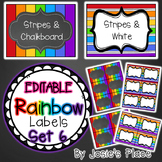 Editable Rainbow Labels Set 6