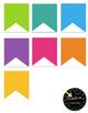 Editable Rainbow Mini Banners!