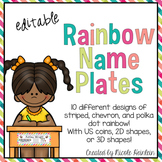 Editable Rainbow Name Plates