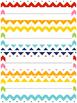 Editable Rainbow Name Tags or Name Plates