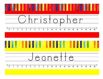 Editable Rainbow Name Tags