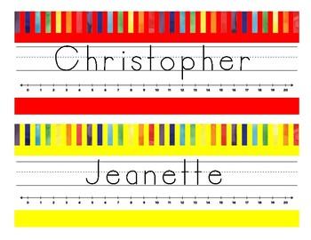 Editable Rainbow Name Tags