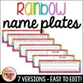 Editable Rainbow Name Tags / Name Plates