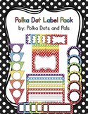 Editable Rainbow Polka Dot Label Pack