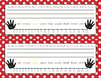 Editable Rainbow Polka Dot Name Tags