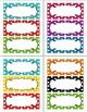 *Editable* Rainbow Polka Dot Nameplates, Labels, Bulletin Board 7 x 3