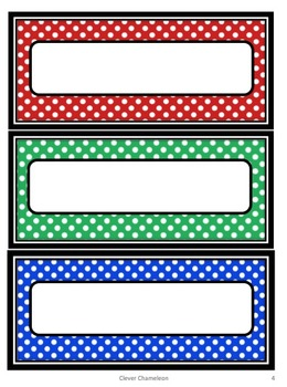 Labels in Four Sizes