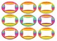 Editable Rainbow Stripe Themed Labels & Tags & Hall Passes Bundle