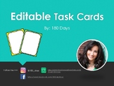 Editable Rainbow Task Cards
