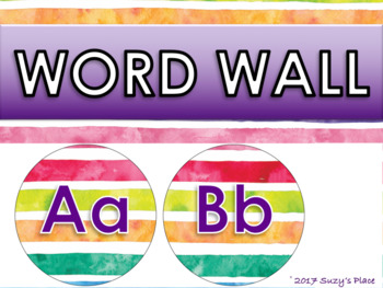 Back to school. Editable Rainbow Theme Class Decor