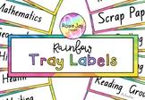 Editable Rainbow Tray Label Freebie