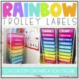 Editable Rainbow Trolley Drawer Labels Freebie