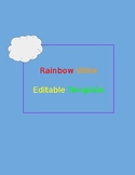 Editable Rainbow Write Template
