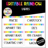 Editable Rainbow small labels