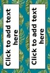 Editable Rainforest Name tags and labels