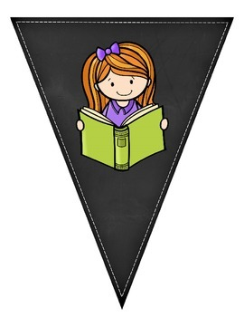 Editable Read Banner Pennants Classroom Decor