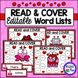 Editable Read and Cover Sight Words - Valentine's Day