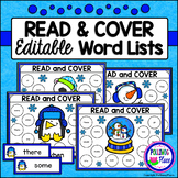 Editable Read and Cover Sight Words - Winter