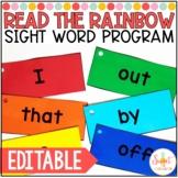 Editable Read the Rainbow Sight Word Program