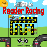 Editable Reader Racing - Sight words, Letter Recognition,